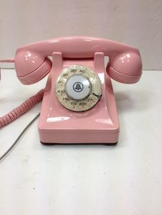 PINK working Western Electric LUCY 302 Painted Rotary Dial Telephone.