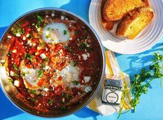 Berbere Shakshuka – Spicewalla Canning Whole Tomatoes, Lentil Dishes, Middle Eastern Dishes, Spicy Tomato Sauce, Poached Eggs, Mediterranean Recipes, Other Recipes, Fresh Herbs
