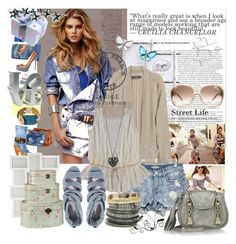 """Perfect day"" by leona9 ❤ liked on Polyvore featuring Gucci, By Malene Birger, ASOS, Lee Angel Jewelry, See by Chloé, NYMPHENBURG, Shabby Chic, WALL, Mother and Aurélie Bidermann"
