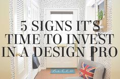 5 signs it's time to invest in an interior designer - tips from stylist Lesley Myrick