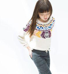 ZARA - KIDS - Multicolored jacquard sweater