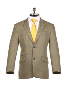Green with Purple Check Tweed Sports Jacket - Harvie & Hudson