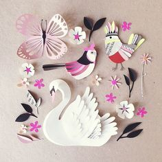 Birds!! #paperart #papercut #paperfolding ... Paper Crafts = Hanna Nyman Paper poetry by Stockholm based designer and print designer Hanna Nyman. WebShop on website.