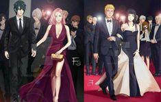 SasuSaku & NaruHina (collage made by me/Prometheus) Art is by ^^ Naruto E Hinata, Naruhina, Kakashi, Naruto Shippuden, Naruto Couples, Naruto Girls, Anime Couples, Haikyuu, Otaku