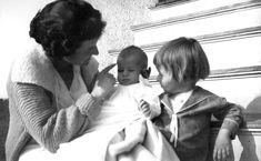 Rose Kennedy with Kathleen and Joseph Jr.