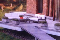 wooden deck Wooden Path, Wooden Decks, Outdoor Sectional, Sectional Sofa, Outdoor Furniture, Outdoor Decor, Paths, Garden, Home Decor