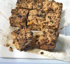 Bread pudding. Use only 100g sugar.
