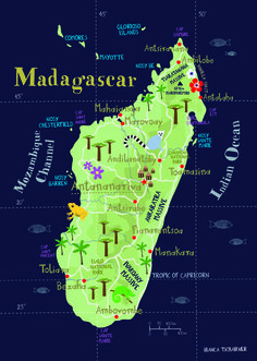 Madagascar illustrated map