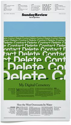 Sunday Review Cover. My Digital Cemetery text by Rob Walker. Art Direction by Alexandra Zsigmond.