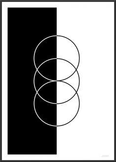 Black & White Poster (A3) - DKK 150,-