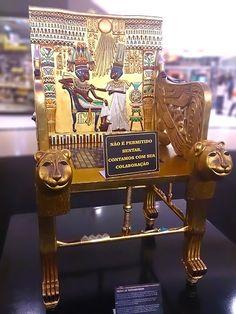 Trono de Tutankhamon, Exposição Segredos do Egito. #exposicao #culturaegipcia #arteegipcia