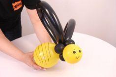 Como criar uma abelha com balões