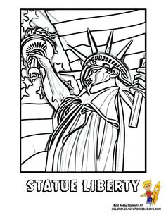 Statue Of Liberty Coloring Page You Can Print Out This 4th July Now
