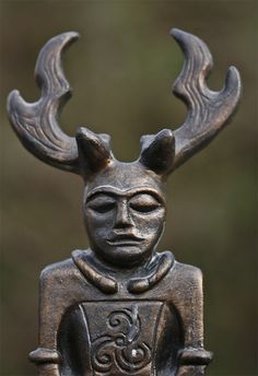 Cernunnos Celtic - yet makes me think of Viking helmets and the stag...