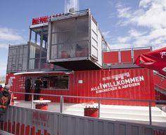 Unser Pall Mall Containergebäude für Rock am Ring. Ein mobiler Containerclub