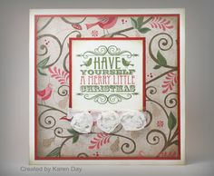 Karen's Creations: Have Yourself a Merry Little Christmas #PearAndPartridgeCardmakingWOTG