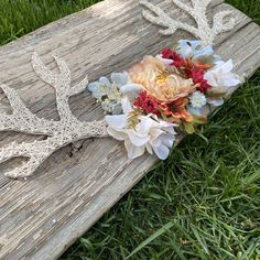 Excited to share this item from my shop: Rustic Barn-wood Antler string art Rustic Barn, Barn Wood, Material Flowers, Faux Flowers, Wall Hanger, String Art, Antlers, Etsy Shop, Unique Jewelry
