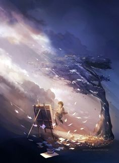 Impresionante. http://megatruh.deviantart.com/art/island-451007477