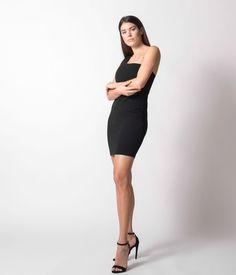 Φόρεμα Μίνι με Έναν Ώμο - Μαύρο Dresses For Work, Black, Fashion, Moda, Black People, Fashion Styles, Fasion