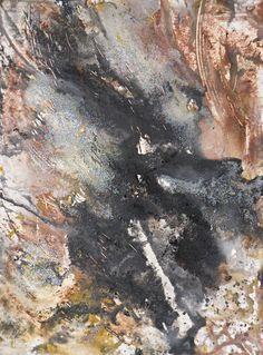 "Apocalypse 11, Acrylic, Calcium Carbonate, Carbon, Graphite, Emulsion and Pigments on Paper, 24"" x 18"", $500, http://transformgallery.com/Erick-sanchez/"