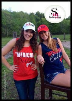 Comfort Color  MERICAN BELLE Tanks by SouthernMadeShirts on Etsy