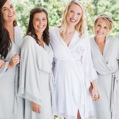 jersey lace robes for bridesmaids
