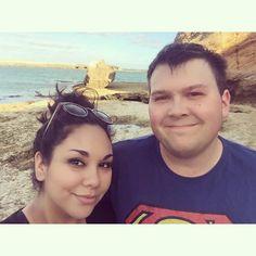On the beach || Warrnambool Vic.  #greatoceanroad #warrnambool #victoria #australia #beach #selfie #fiancé #nature #sea by kathrynmakris