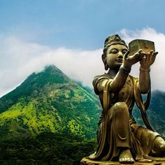 #Lantau Island, #HongKong is one of the most visited religious sites, known for its giant #Buddha statue. Photo courtesy of no destinations on Instagram.