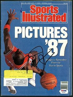 Bulls Michael Jordan Autographed 1987 Sports Illustrated - PSA/DNA Certified - Signed NBA Basketball Signatures * Find out more about the great product at the image link.