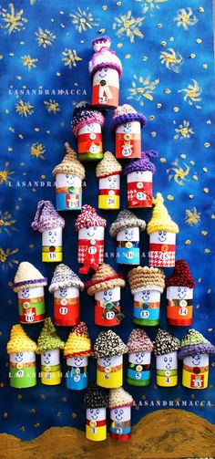 DIY advent calendar, creative Christmas ideas from rea .- DIY advent calendar, creative Christmas ideas to make with children - 25 Days Of Christmas, Christmas Makes, Christmas Projects, Winter Christmas, Kids Christmas, Holiday Crafts, Advent Calenders, Diy Advent Calendar, Kids Crafts