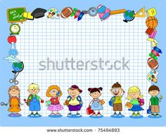 Cute Back to School Frame vector image on VectorStock School Boy, Back To School, School Border, School Frame, School Subjects, Kids Patterns, Writing Paper, Classroom Decor, Banner