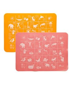 Pink & Orange ABC Placemats from Brinware $9.99