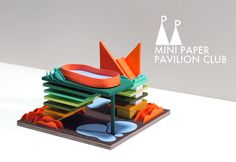 El Terraza Oculta El Pabellón; model / paper / architecture / pavilion / miniature / vancouver / MPPC / mini paper pavilion club