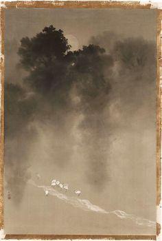 Moonlight in the Woods By Yokoyama Taikan