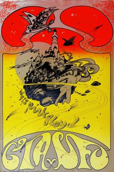 Pink Floyd at the UFO club, July Poster by Hapshash and the Coloured Coat Psychedelic Rock, Psychedelic Posters, Hippie Posters, Rock Posters, Band Posters, Vintage Concert Posters, Vintage Posters, Wes Wilson, Musica Punk