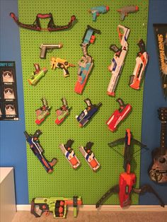 Nerf gun storage