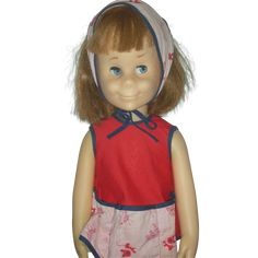 Vintage Mattel Charmin Chatty Cathy Doll Works.  Charmin' Chatty (1963-1964) was 24 inches tall, part of the Chatty Cathy family of dolls, was hard plastic, had a jointed body with a vinyl head and rooted hair, and wore black eyeglasses.