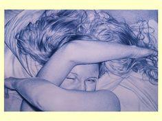 "The ""R rated"" Ballpoint Pen Drawings of Juan Francisco Casas Stylo Art, Ballpoint Pen Drawing, 3d Street Art, Realistic Paintings, Photorealism, Dream Art, Cool Artwork, Cool Drawings, Painting & Drawing"