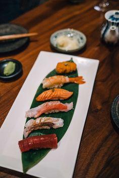The Taste SF visits Okane and tries their Nigiri in San Francisco Nigiri Sushi, Sashimi, California Travel Guide, Best Places To Eat, Caprese Salad, San Francisco, Brunch, Restaurant, Ethnic Recipes