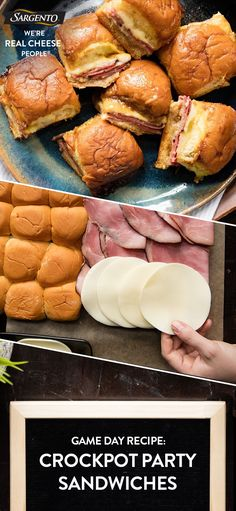 Promoted by Sargento®. Looking for that ultimate Game Day power play? These Crockpot Party Sandwiches are a hot ham and cheese sandwich that's been kicked up about 10 notches. The flavor of these can't be beat! Serve them up to your guests and cruise to victory. Thank you @momswcrockpots for the recipe! Click through for the full recipe.