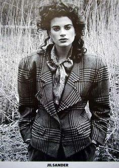 Kristen McMenamy by Peter Lindbergh |Jil Sander Campaign Fall 1985