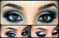 aqua blue eye makeup