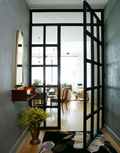glass and steel door