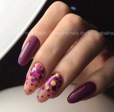 Art Simple Nail/ purple sparkle nails