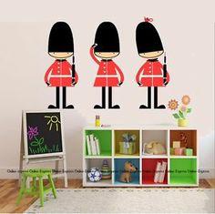 Queens Guard Army Soldier Nursery Wall Stickers Art Childrens Britain London UK! | eBay