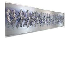 Purple Array - Silver & Purple Accented Modern Metal Wall Sculpture - 48