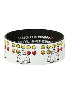 Best Bracelet 2017/ 2018 : Disney Big Hero 6 Baymax Moods Rubber Bracelet