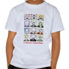 12 French Composers Tee Shirt