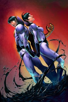 Zan and Jayna colored by a new friend, thanks man! (TM) DC Comics Wonder Twins by deffectx Comic Book Characters, Comic Character, Comic Books Art, Comic Art, Book Art, Gi Joe, Justice League, Joker Sketch, Wonder Twins