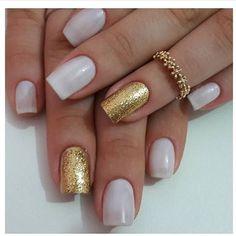 #nail #nailart #nails #unha #unhas #unhasbemfeitas #unhasdasemana #unhasdecoradas #unhaslindas #unhasperfeitas #unhastop Gelish Nails, Pedicure, Make Up, Nail Art, Toenails Painted, Nail Bling, Nice Nails, Nail Arts, Neutral Nails
